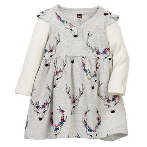 Tea Collection Oh Deer! Button Dress